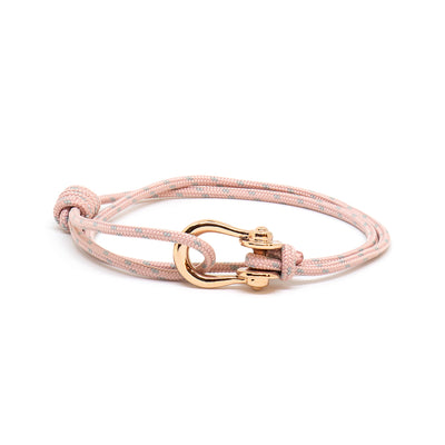 Kalymnos / Sakura / Rose Gold - Kalymnos - Inspired by Rock-climbing - Matching Couple Bracelets - Topologie
