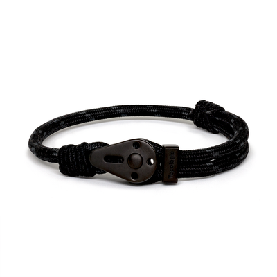 Yosemite / Black Patterned / Matte Black - Yosemite - Inspired by Rock-climbing - Matching Couple Bracelets - Topologie