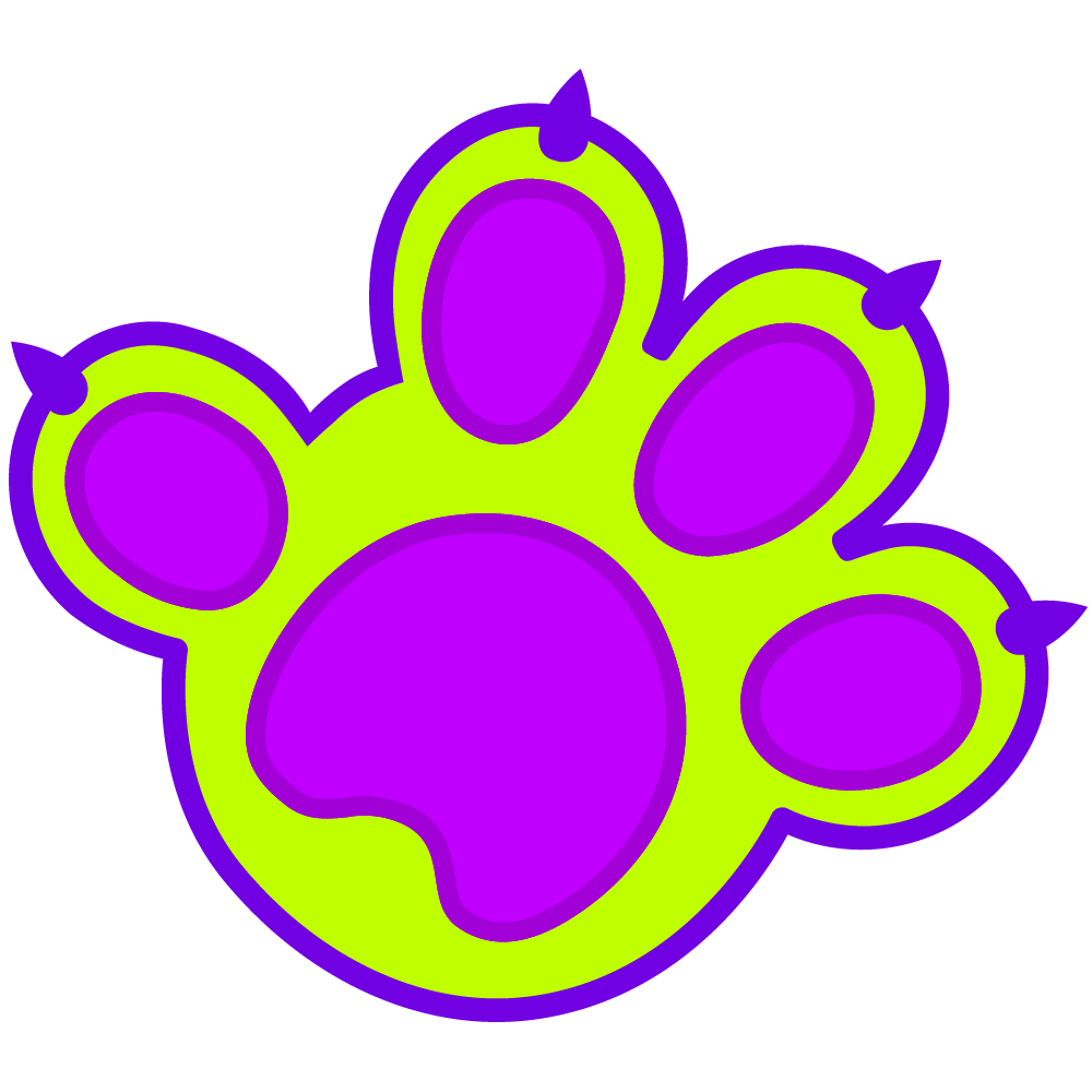 MUB Club - MUB Paw Print - Monster Under The Bed Paw