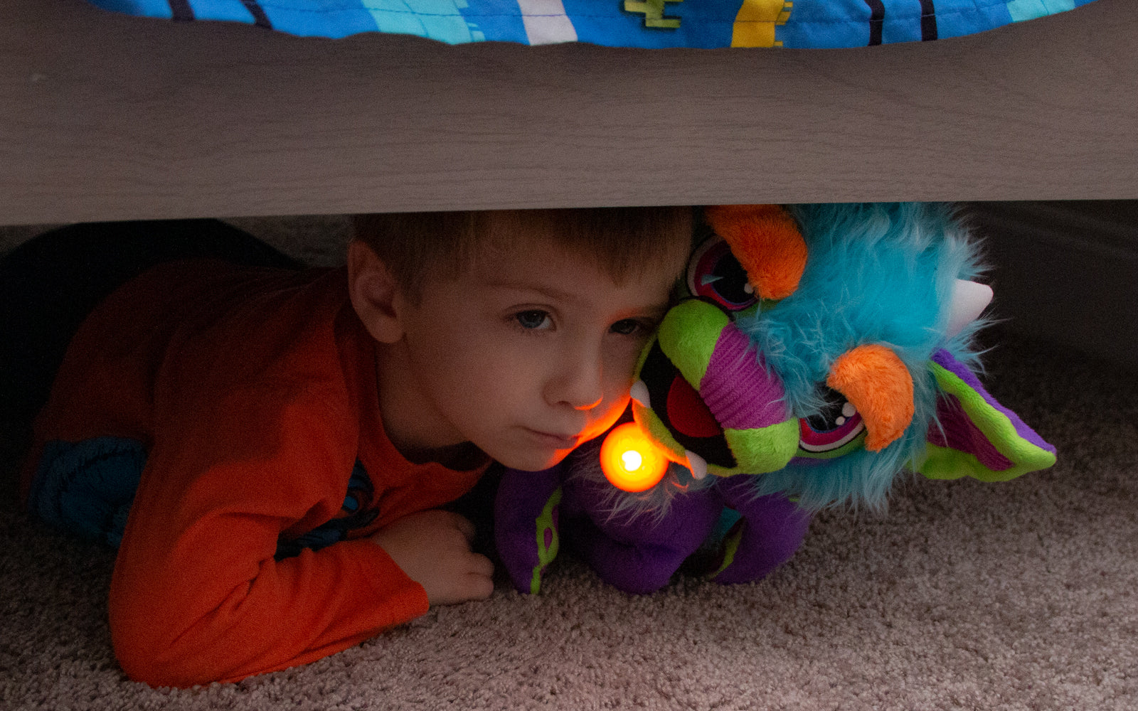 Monster and Boy Under the Bed!