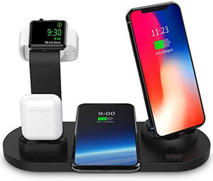 Wireless Charger, 4 in 1 Wireless Charging Dock for Apple Watch and Air pods, Charging Station for Multiple Devices