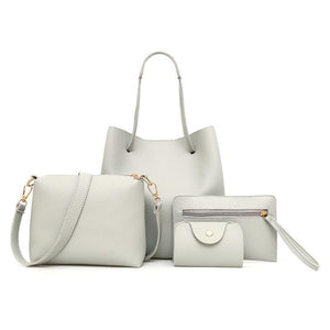4 Pcs / 1 Set Leather Handbag - Jazzie Dealz