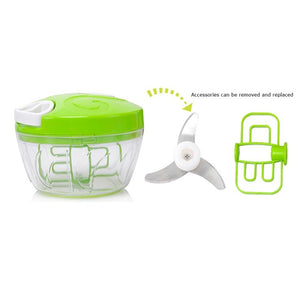 Hand Pull Food Cutter for Fruit & Vegetable | Multifunction - Jazzie Dealz