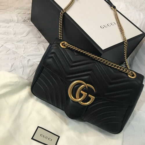 GG Marmont Medium Matelasse Convertible Shoulder Bag - Jazzie Dealz