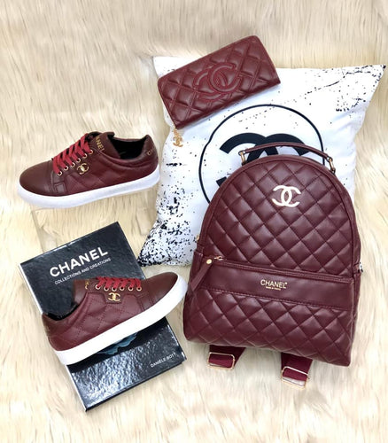 Chanel Backpack Set Sneakers, Wallet and Backpack - Jazzie Dealz