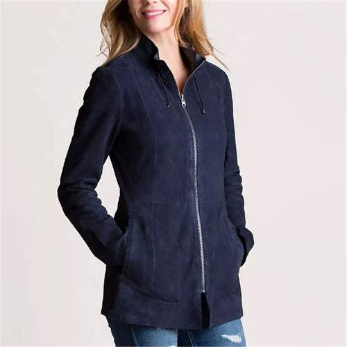 Casual women's solid color lapel jacket DWQ40