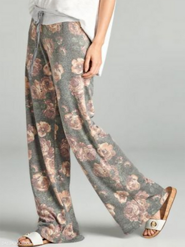 Drawstring  Belt Belt Loops  Floral Pants
