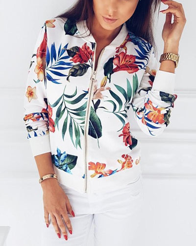 Spring And Autumn Fashion Print Jacket
