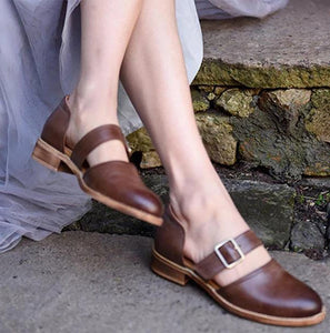 Comfortable Flat Bottom Women's Baotou Sandals