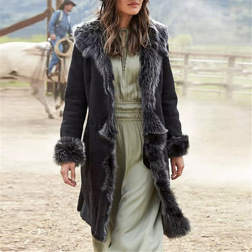 Women's fashion thick plush coat DWQ40