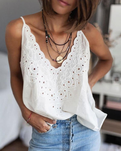 V-Neck Sling Hollow Sexy Vest