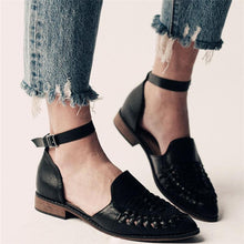 Load image into Gallery viewer, Ladies Fashion Casual Low Heel Hollow Buckle Sandals Shoes