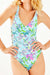 V-neckline Cross Strappy One Piece Swimsuit
