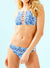 High Neckline Printed Bikini Set