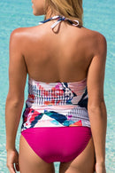 Bloom Print Twist Tankini Set