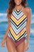 Multi High Neck Tankini Set