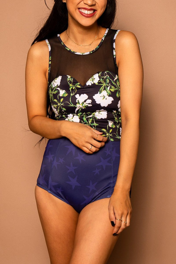 dc039928c08f69 Netted Sweatheart Floral Tankini Set – swimfully