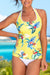 Yellow Printed Sport Tankini Set