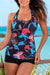 Tropical Vacation Floral Sport Tankini Set