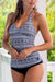 Geometric Printed V-Neck Tankini Set
