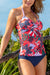 Coral Printed Twist Tankini Set
