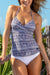 Geometric Printed Twist Tankini Set