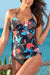 Tropical Vacation Floral Twist Tankini Set
