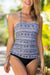 Geometric Printed Seaside Tankini Set