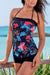 Tropical Vacation Floral Classic Bandeau Tankini Set