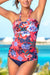 Coral Floral Printed Scoop Tankini Set