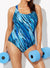 CHLORINE RESISTANT WHIRLPOOL X-BACK ONE PIECE SWIMSUIT
