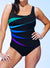 LONGITUDE CHLORINE RESISTANT FAN TANK ONE PIECE SWIMSUIT