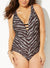 SAVANNAH MESH V-NECK ONE PIECE SWIMSUIT