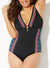 MESMERIZED DEEP V-NECK ONE PIECE SWIMSUIT