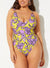BEACHFRONT V-NECK ONE PIECE SWIMSUIT