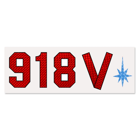 918V Vinyl Kramer® Eddie Van Halen Guitar Decal RED Space Tape