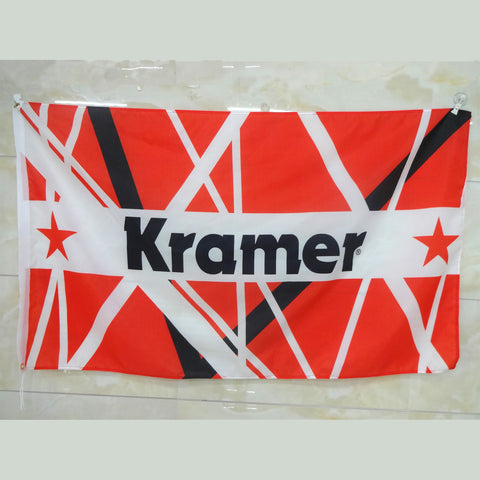 Kramer® Eddie Red-White-Black Striped Flag 3' x 5'