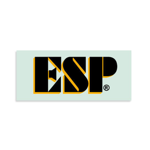 ESP® Logo Kamikaze® Guitar Waterslide Headstock Decal BLACK w GOLD