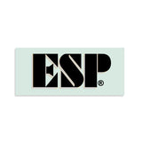 ESP® Logo Kamikaze® Guitar Waterslide Headstock Decal BLACK w SILVER