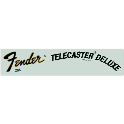 Fender® Telecaster® Deluxe USA Waterslide Headstock Decal GOLD FOIL
