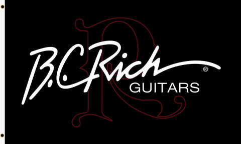 B.C. Rich® Guitars Logo Flag 3 ft x 5 ft