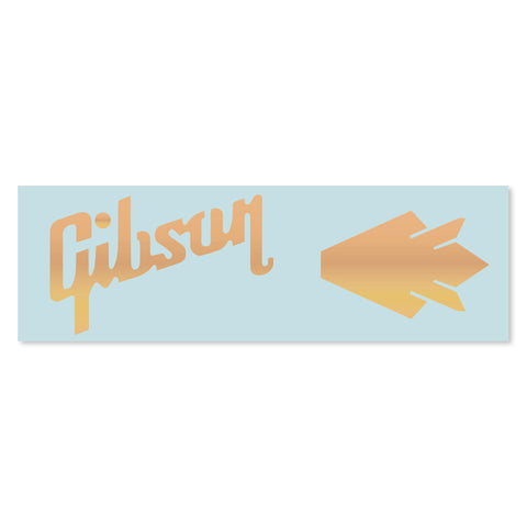 Gibson® Les Paul® Crown Waterslide Headstock Decal GOLD FOIL