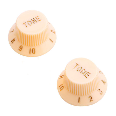 Twin Pack CREAM Strat-style Guitar TONE Knobs