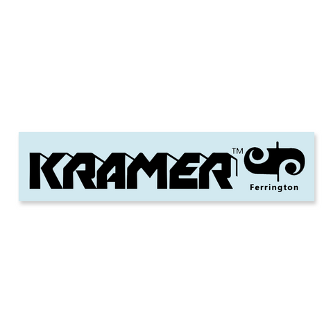 Kramer® Ferrington® Guitar Headstock Waterslide Decal BLACK or GOLD