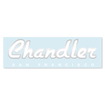 Chandler® SF Waterslide Guitar Headstock Decal WHITE SILVER