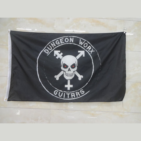 Dungeon Worx Guitars® Logo Flag 3 ft x 5 ft