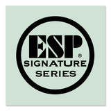 ESP Signature Series Logo Waterslide Back-of-Headstock Decal BLACK