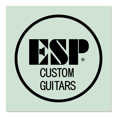 ESP Custom Guitars Logo Waterslide Back-of-Headstock Decal BLACK