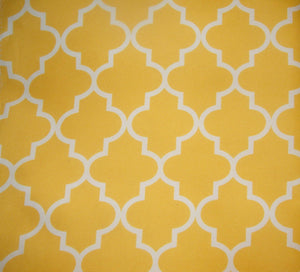 "White Yellow Moroccan 600 Denier Waterproof Polyester Canvas 60"" Wide 