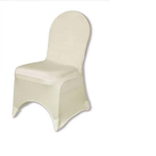 Ivory Heavy Weight Spandex Ballroom Chair Cover || Event Décor